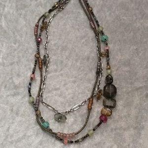 Silpada Colorful Stone Multilayer Necklace